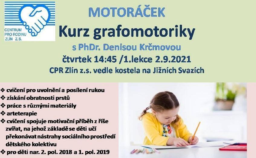 Motoráček - kurz grafomotoriky