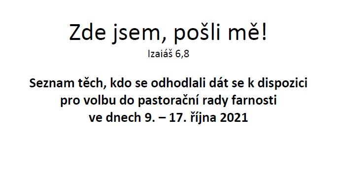 Volby do nové pastorační rady