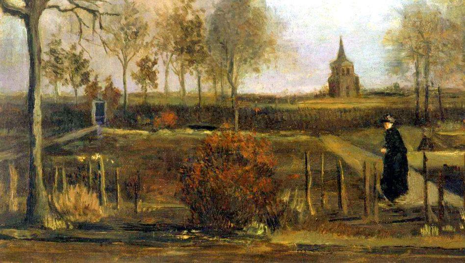 Vincenc van Gogh: Farní zahrada v Nuenen (1884) Groninger Muzeum, Holandsko