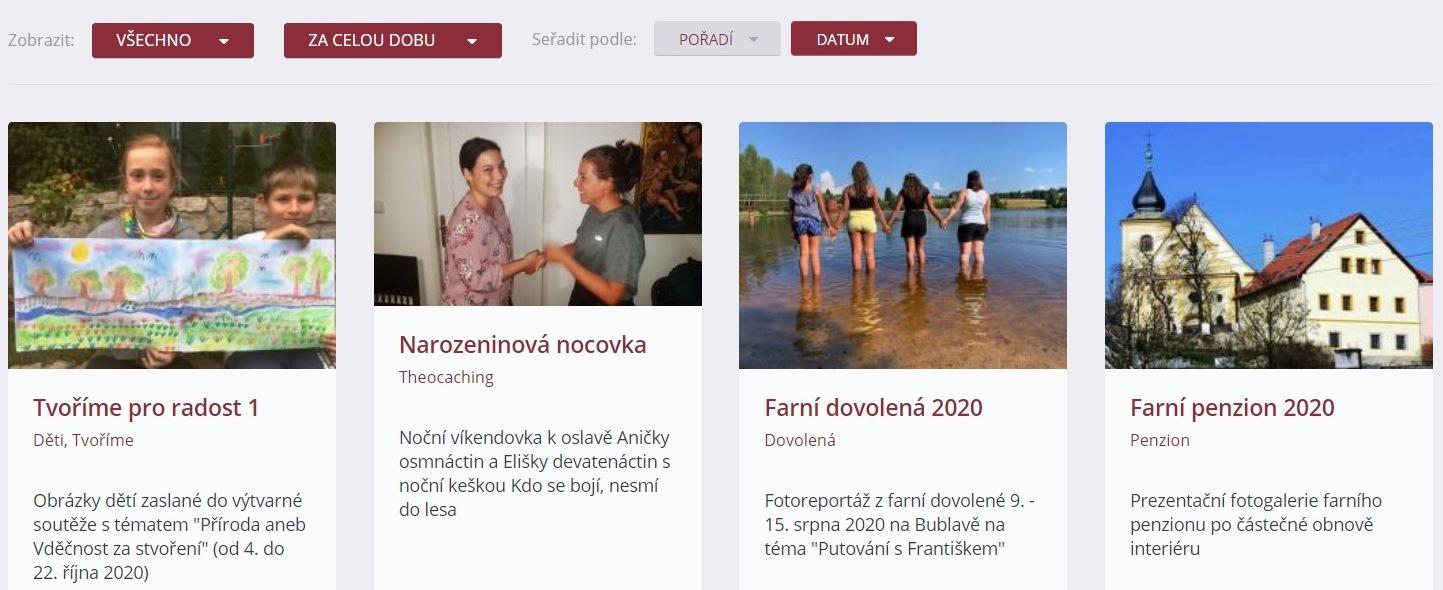 Fotogalerie chebské farnosti - farní web