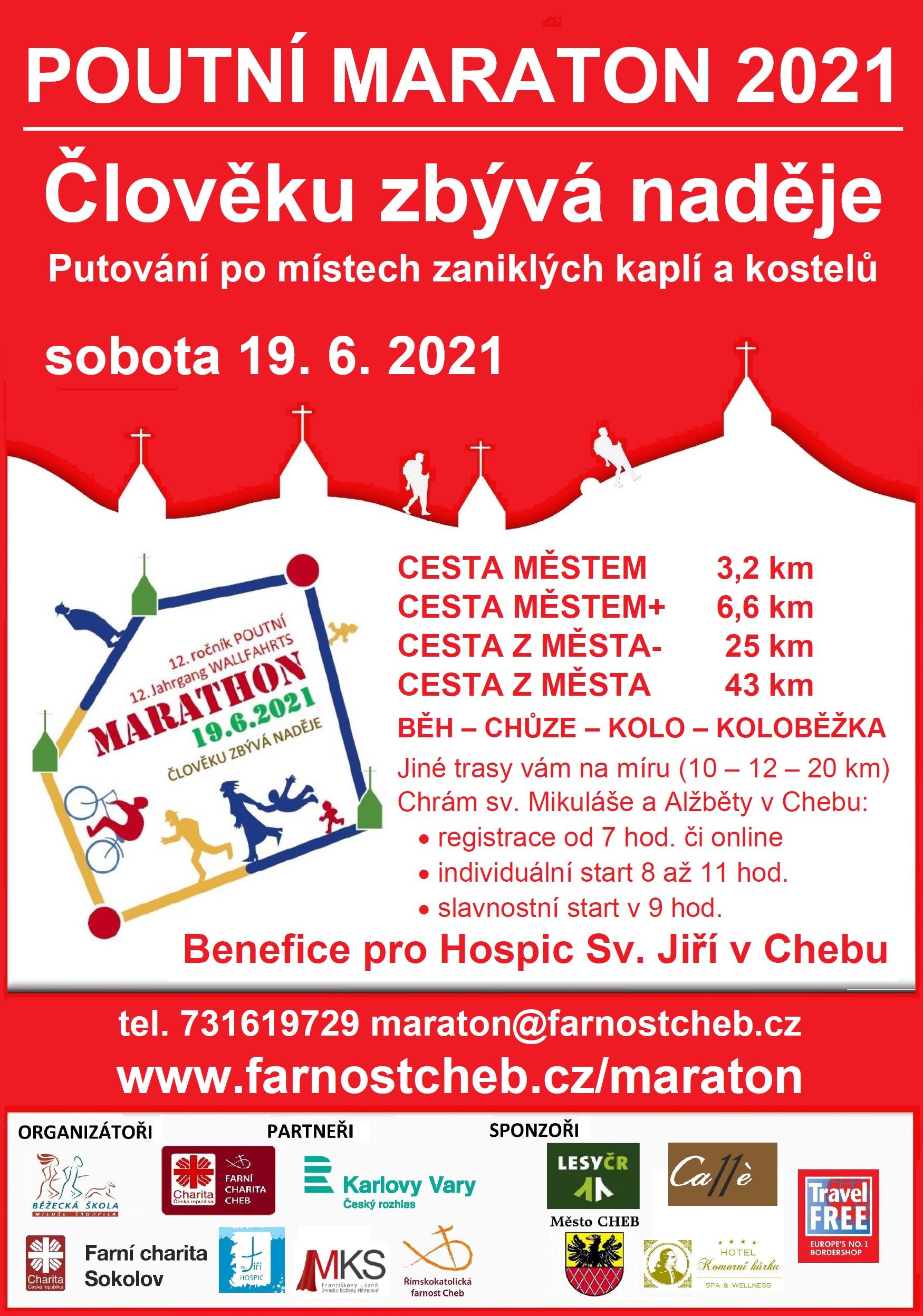 Poutní maraton 2021 - plakát