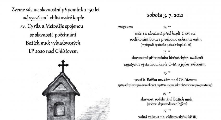 150 let kaple sv. C+M a Boží muka nad Chlístovem
