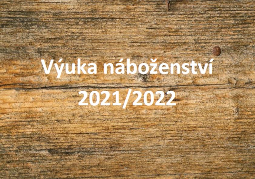 Výuka náboženství 2021/2022