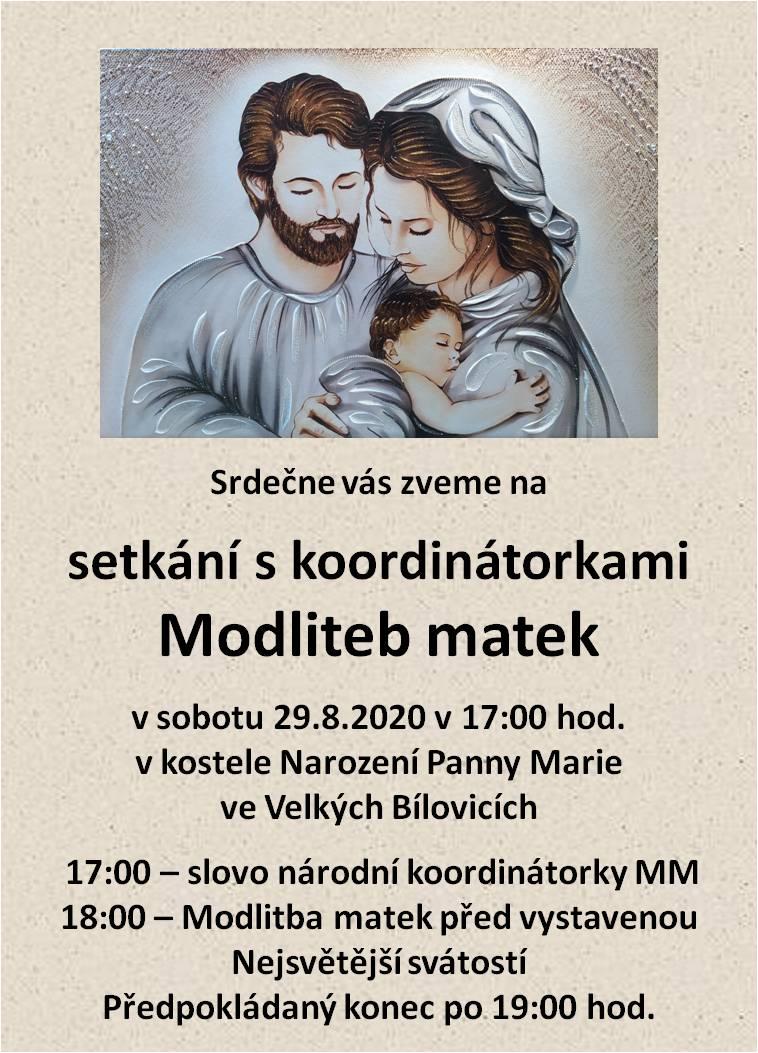 Setkání s koordinátorkami Modliteb matek