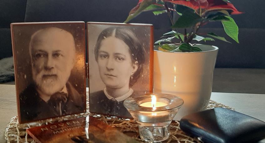 Putování relikviáře s ostatky svatých manželů Zélie a Ludvíka Martinových po rodinách ve farnosti