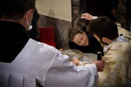 Křest katechumenky na Křest Páně