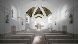 Výmalba kostela
